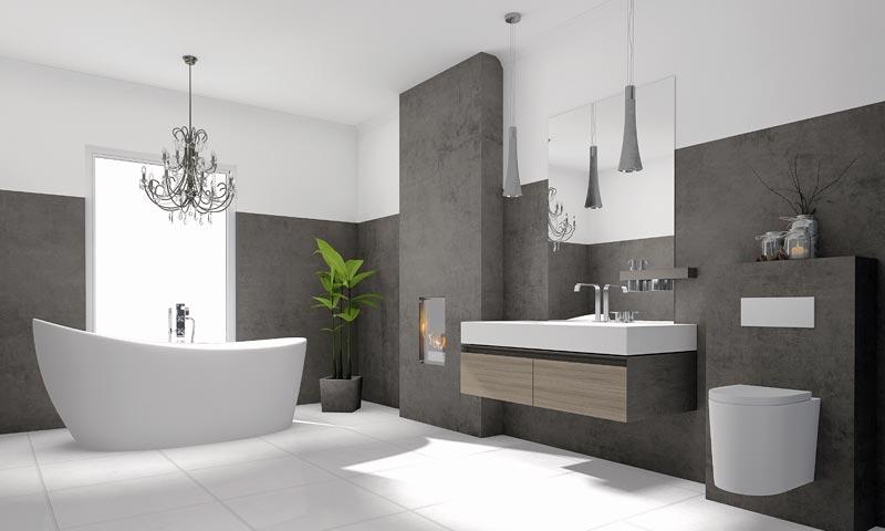 Modernes Bad nach Bad-Neubau